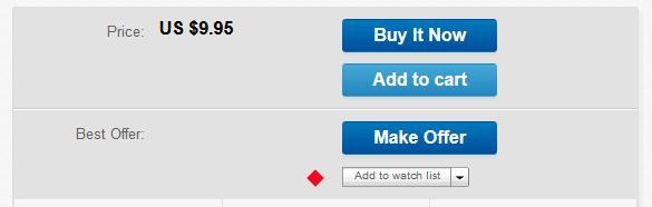 eBay Watch List Button
