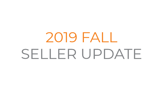2019 Fall Seller Update