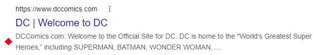 DC Comics Meta Description
